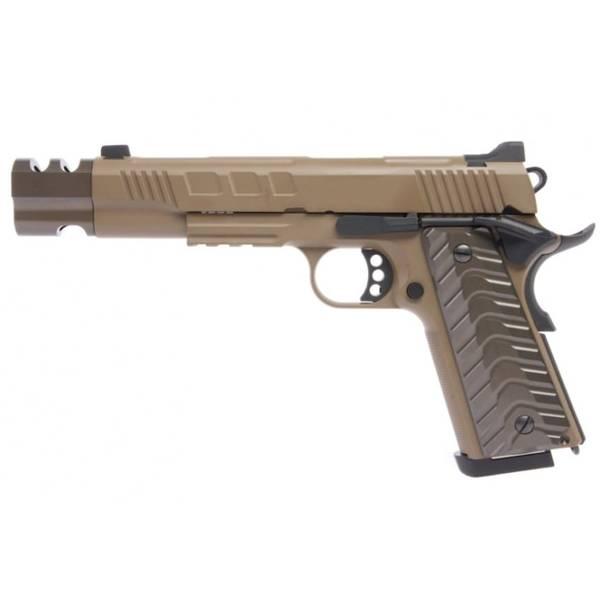 Bilde av KJW - KP16 Gassdrevet Softgun Pistol med Blowback og Kompensator