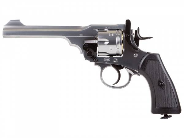 Bilde av Webley - MKVI Service Revolver 4.5mm Pellets - Exhibition Silver