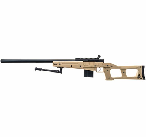 Bilde av Swiss Arms - SAS 08 Softgun Sniper med Tofot - Fjærdrevet -TAN