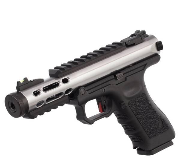 Bilde av WE - Galaxy Gassdrevet Softgun Pistol GBB - Sølv