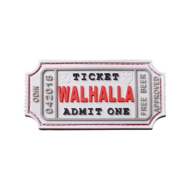 Bilde av Patch - Large Walhalla Ticket Rubber - Hvit