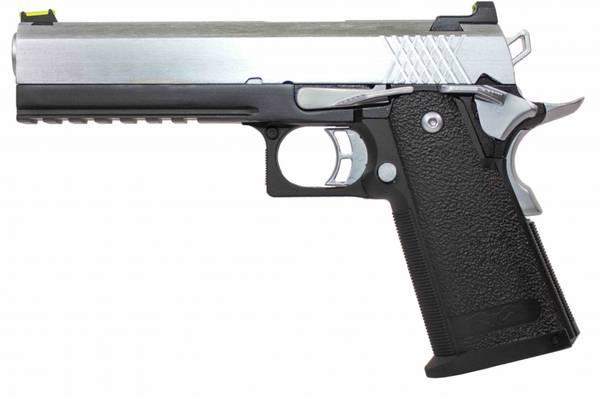 Bilde av Raven - Hi-Capa 5.1 Softgunpistol med Blowback - Svart/Chrome