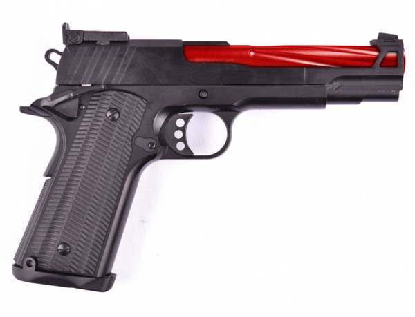 Bilde av GE - 1911 Rød Gassdrevet Softgun Pistol med Blowback- Full Metal