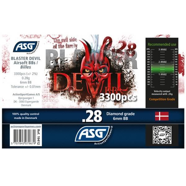 Bilde av Blaster Devil Softgunkuler 0.28g - 3300stk