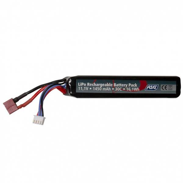 Bilde av ASG Batteri LIPO - 11.1V 1450 mAh 30C T-Plug