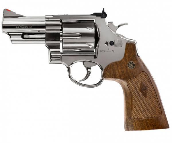 Bilde av S&W - M29 3 CO2 Drevet - 4.5mm BB Revolver - Blå Polert